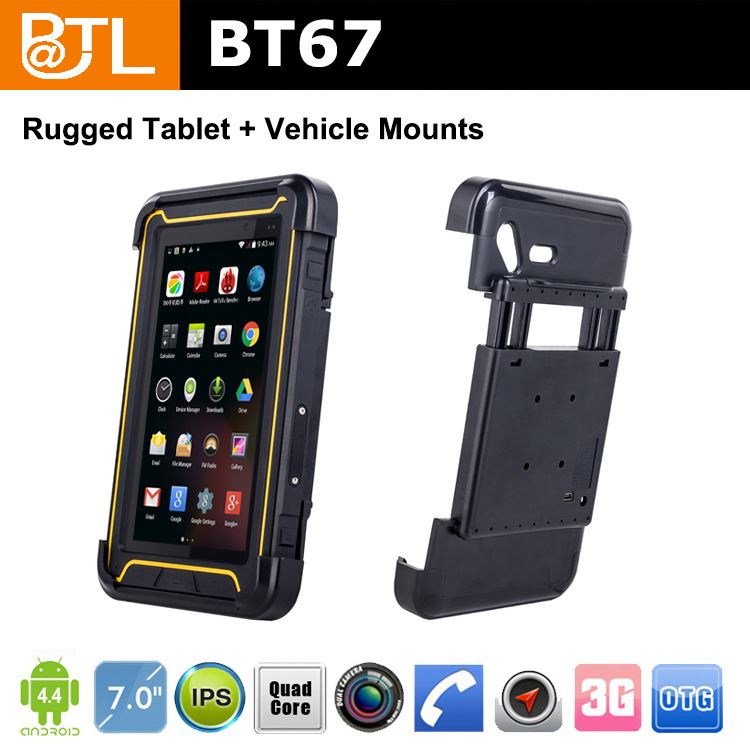 WDF BATL BT67 bright Rugged tablet android 4.4.2 wifi mtk6572 ,dual core waterproof industrial tablet
