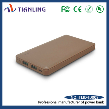 cell phone usb portable charger power bank brown