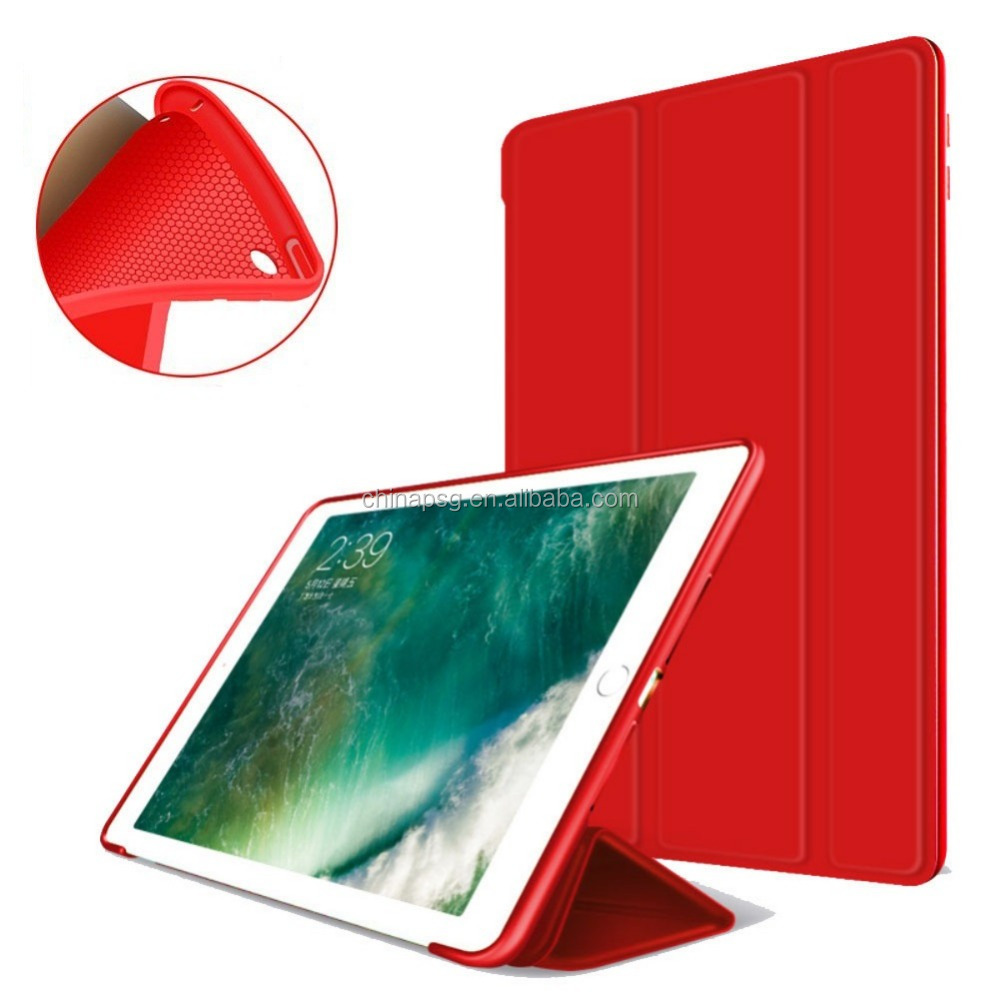 For Newest iPad 9.7 Inch 2018 Case with Lightweight Soft Back Cover and Trifold Stand with Auto Sleep/Wake