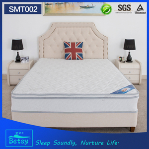 Roll packing compressed spring mattress with high density foam for 5 star hotel bed