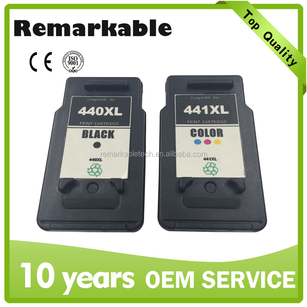 Remanufactured inkjet cartridge for Canon compatible ink cartridge 440XL 441XL