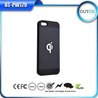 2015 popular rohs battery case for iphone5 qi wireless charger