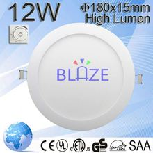 High bright No need Cut ceiling flat round 6w 12w 18w Surface mounted led panel light