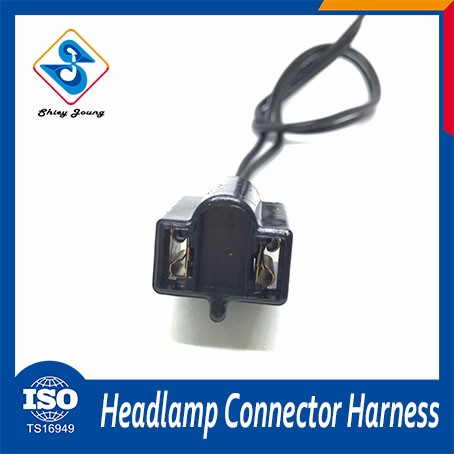 Professional Cars headlamp wire harness 2 pin connector male female automotive wiring