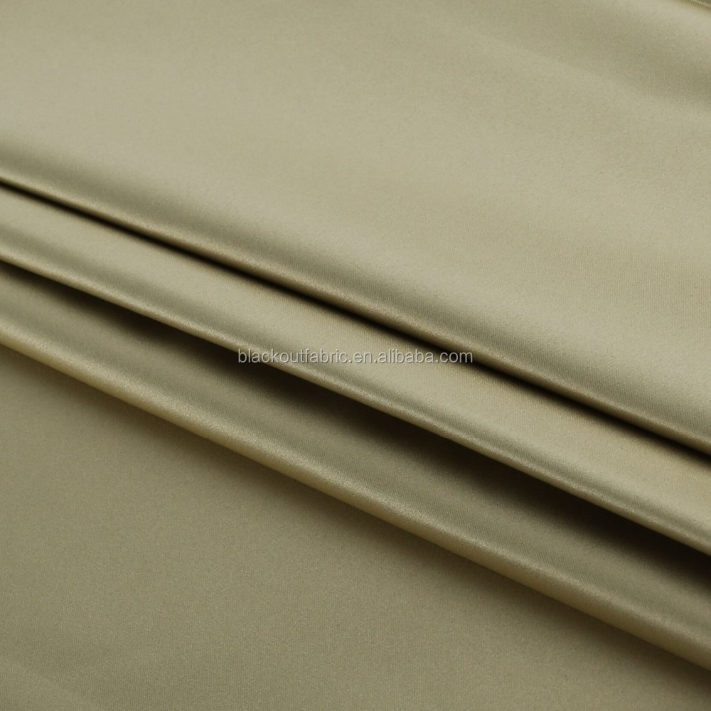 Faux Silk Satin Blackout Fabric for Curtains and Draperies