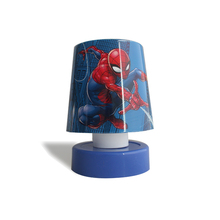 Spiderman modern led round battery operated mini table lamp