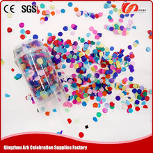 China manufacturer made push-pop paper confetti for christmas