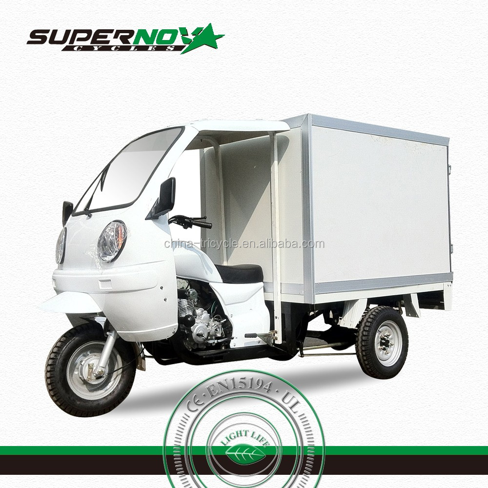 Air Cooling Front Cover Cargo Tricycle with Closed Box