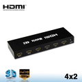4 in 2 out HDMI Matrix switch 3D 1080p 1.4 hdmi switch 4x2 with audio output of SPDIF Coaxial