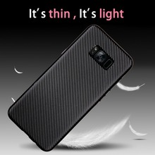 2017 New hot selling Carbon fiber soft TPU mobile phone case for xiaomi redmi note 3 back cover