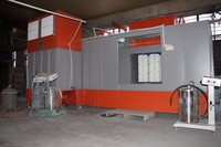 China premium brands electrostatic powder coating spray booth