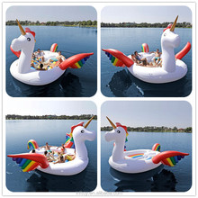 Factory price 6 personal huge inflatable Unicorn party bird island