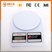 SF400 5KG digital electronic glass kitchen scale for wholesale