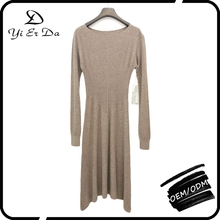 Rib Knitted New Fashion Ladies Dress,Lady Fashion Dress