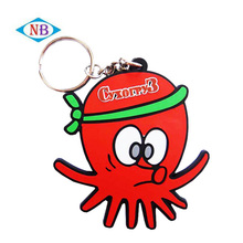 Promotional cartoon character 2d custom PVC rubber keychain