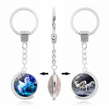 XY-008 Metal Promotion Rotating Key Ring Animal Unicorn Key Chain