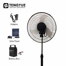 Wholesale DC Pedestal Fan 3pp Solar Pedestal Fan black colour 12v Pedestal Fan