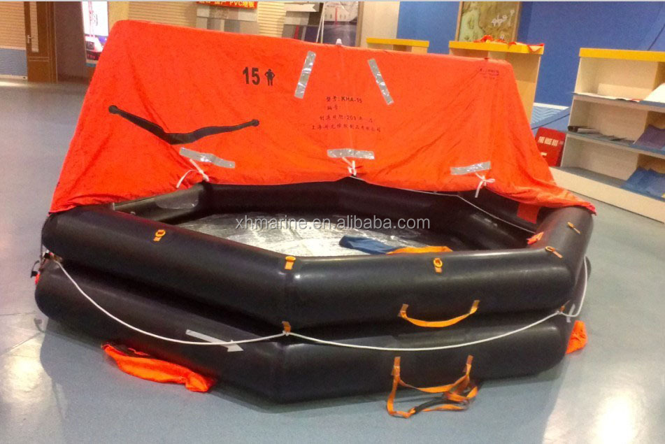 Solas inflatable life raft 4 persons and self righting for Four man rubber life craft