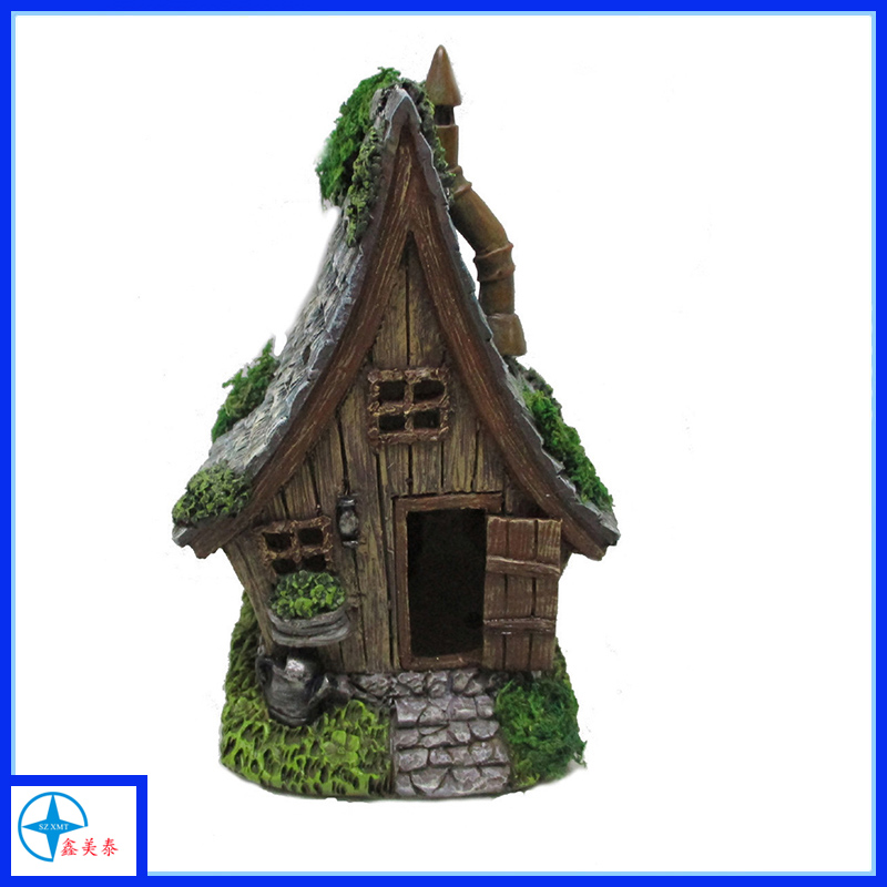 resin moss decorative mini house