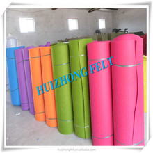 1mm thickness needle-punched polyester felt, colorful decoration felt