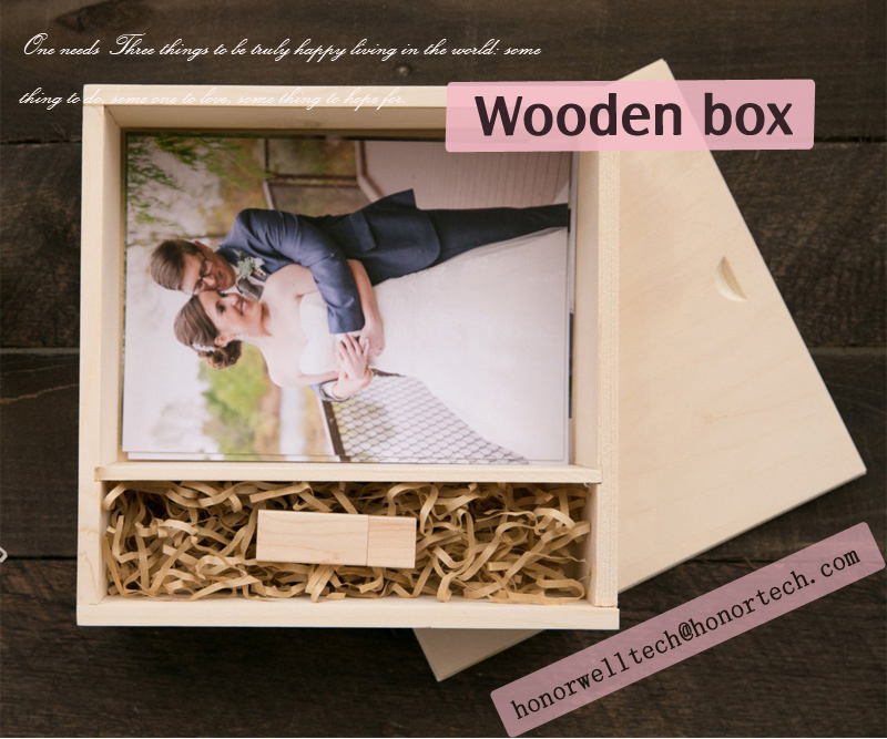 Wedding Gift USB Flash Drive Wooden Box Memory Stick With Custom Logo