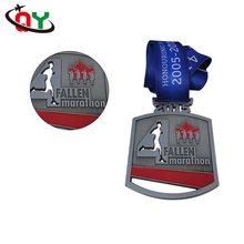 high quality wholesale custom embossed zinc die cast medals and trophies marathon running sports medals
