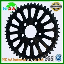 High precision black chrome plated motor sprocket, electric motor sprocket