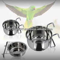 stainless steel Coop cup/bird feeder