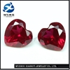synthetic corundum machine cut small heart shaped stones raw precious stones