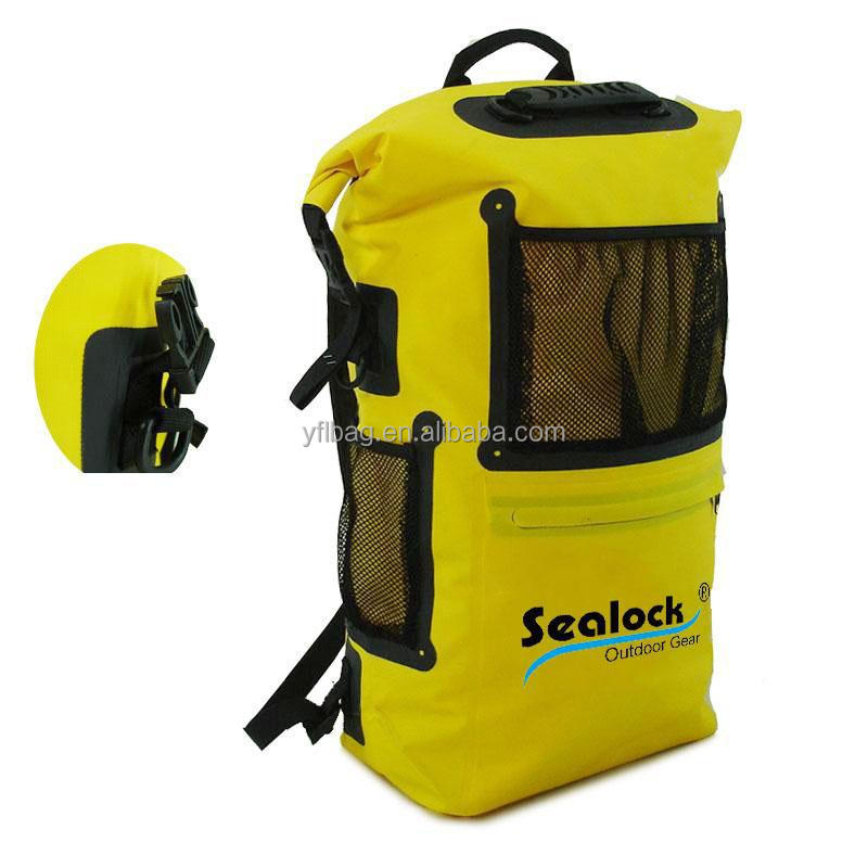 Yellow hiking backpack waterproof 30L