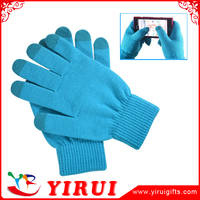 newest fashion hot sale touch mobile phone screen neon magic gloves