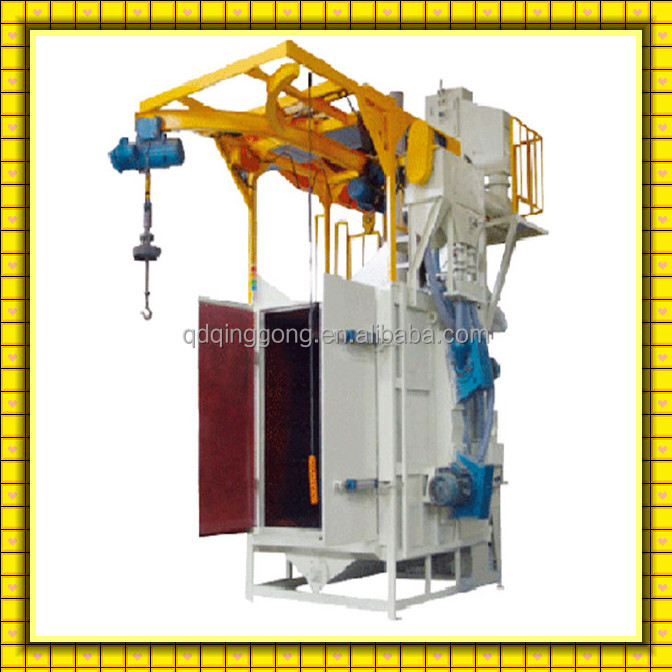 Stainless Steel Sandblast Equipment Double Hook Blasting Cleaning Machine