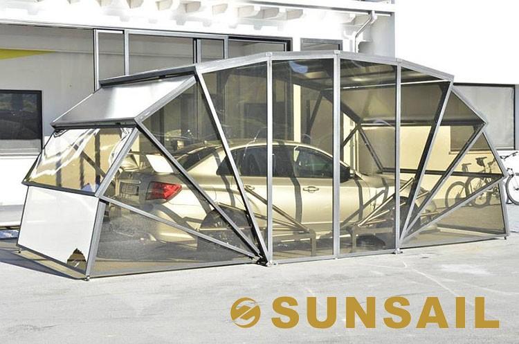 Sunsail box solar energy folding car garage view sunsail for Garage energy automobiles