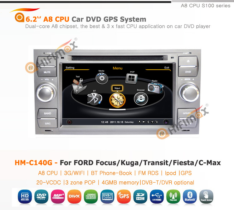 Hifimax car radio for ford transit car radio cd mp3 (Silver & Black panel optional )