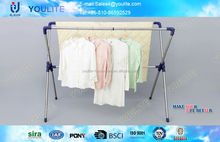 Stainless steel clothes drying rack with plastic parts