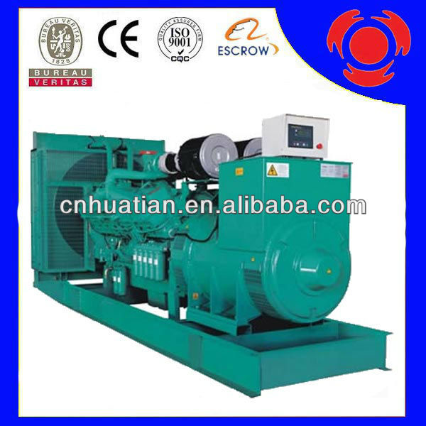 1000KW 1250KVA WEIFANG Diesel Generator With KTA38-G9 Engine