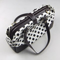 30cm aluminium tube pipe bag black and white dot bags