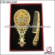 Christmas gift of gold comb mirror set CD-MA169