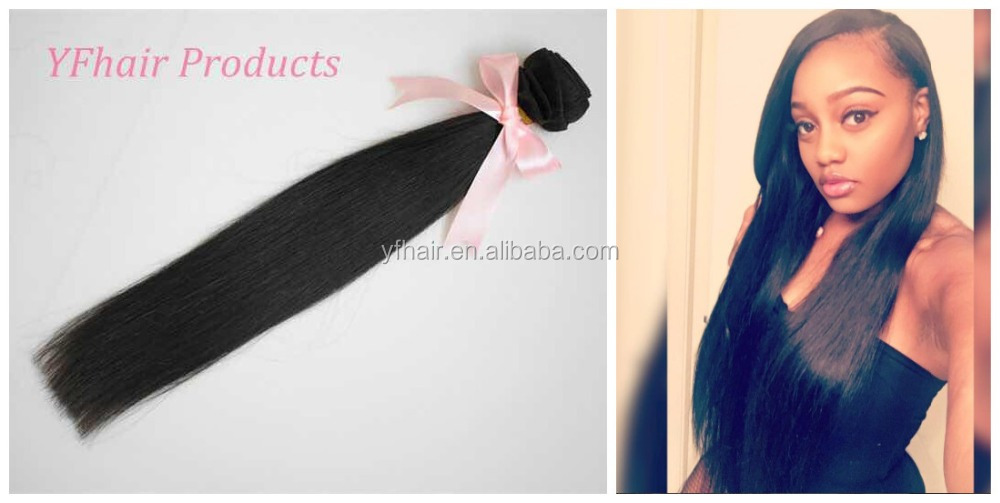 young girl one donor hair High Quality 8A Grade raw virgin hair Straight Natural 1B Color No Shredding Brazilian Human Hair