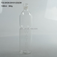 1.0L Heat resisting water glass bottle with silicon sleeve