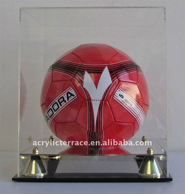 Clear Soccer Ball Display Case Holder UV Protection