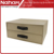 NAHAM A4 file tabletop storage box with two drawers