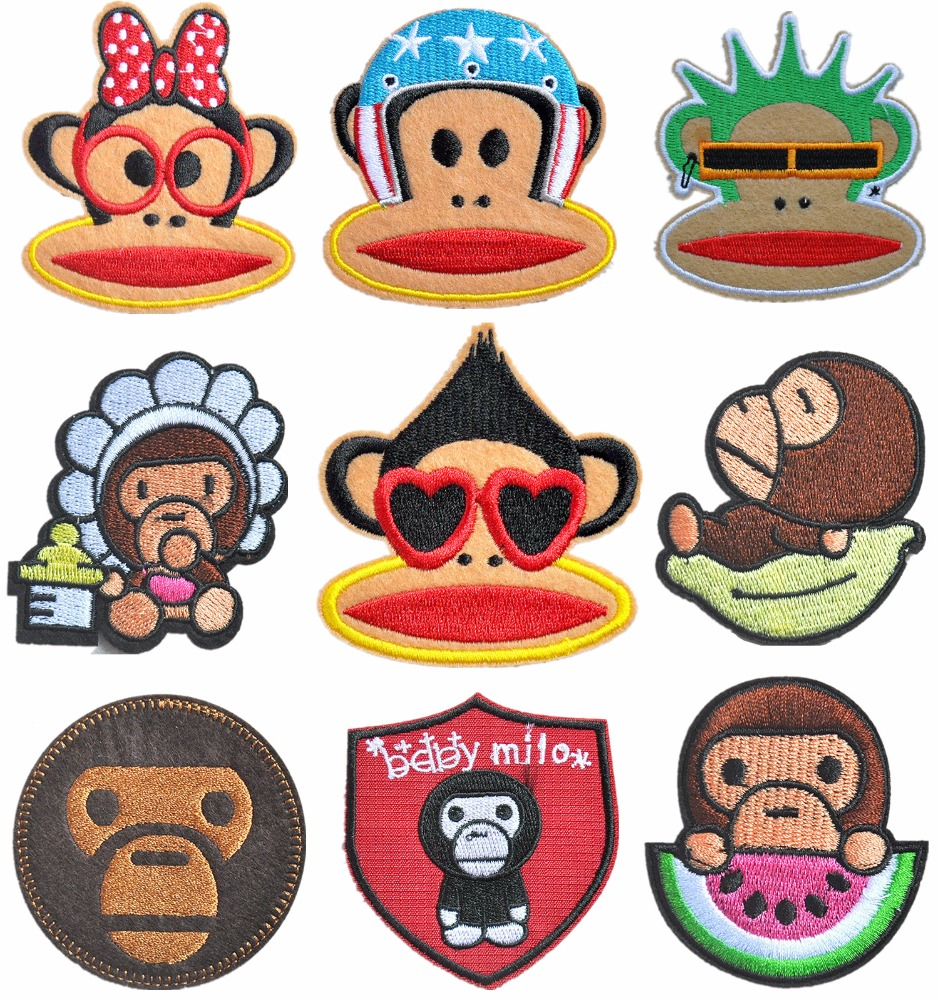 <strong>embroidery</strong> <strong>monkeys</strong> patches for clothing