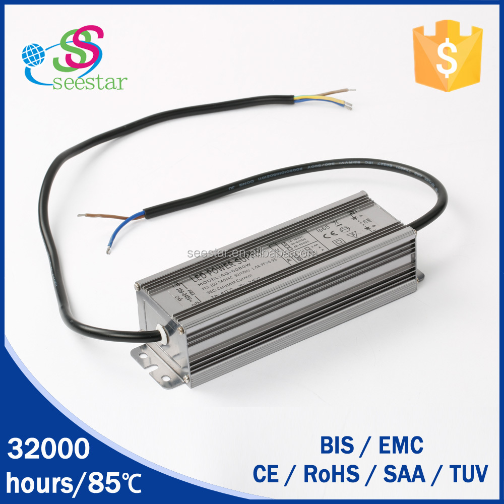 60w switching power supply constant voltage led driver 24v with long shelf-life