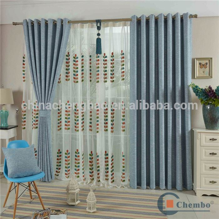 fire proof hotel wide tape eyelet blackout manual bedroom curtain