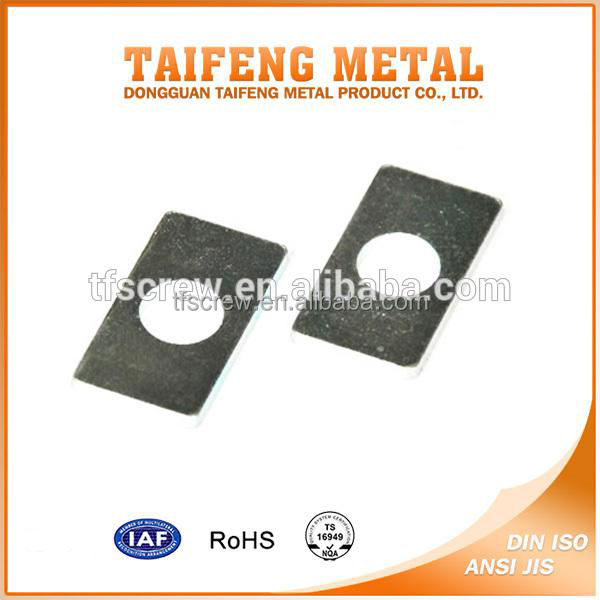 Steel Circular Hole Green Zinc Washer