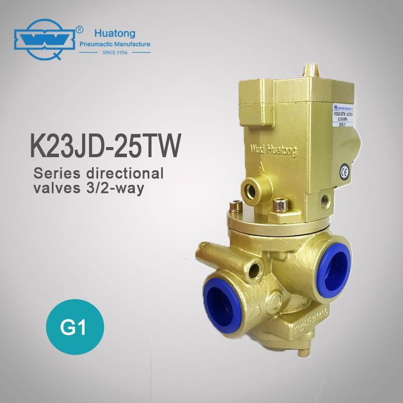 K23JD-25TW 3/2-ways air poppet globle electric valve