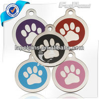 Custom Paw Print Stainless Steel Pet ID Tags