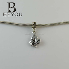 sorority charms wholesale sliver IVY leaf charm