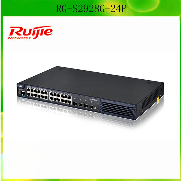 Gigabit Desktop Solution Ruijie RG-S2928G-24P 24 port Mini Ethernet SFP Switch Price Best